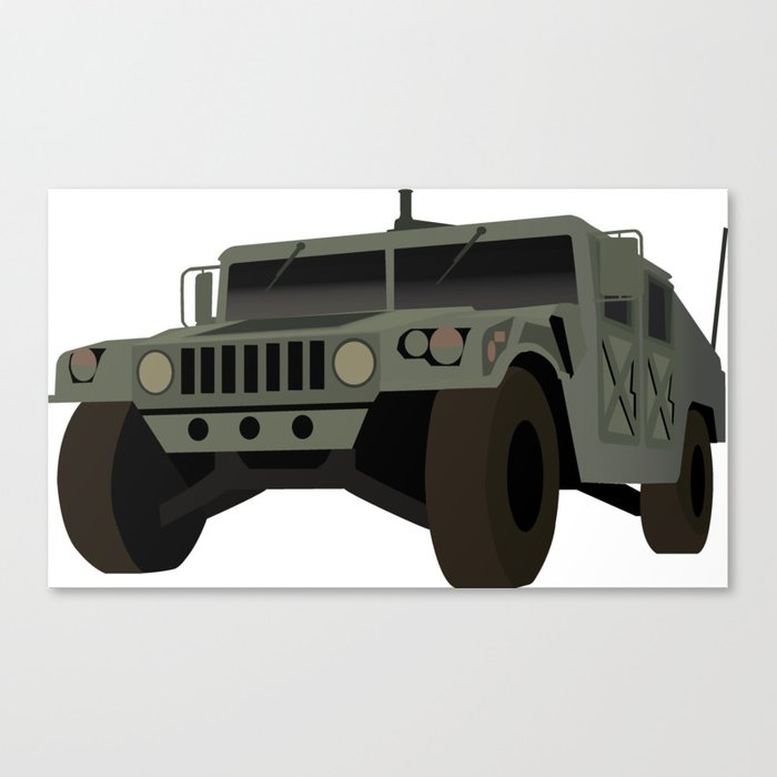 Floor Decor Military Discount: HUMVEE Army Military Truck Canvas Print By Norsetech