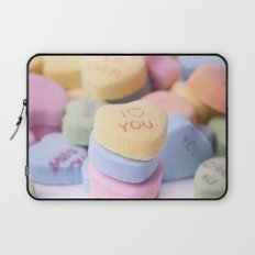 I Love You - Candy Hearts Laptop Sleeve