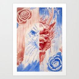 Chinese American Art Print