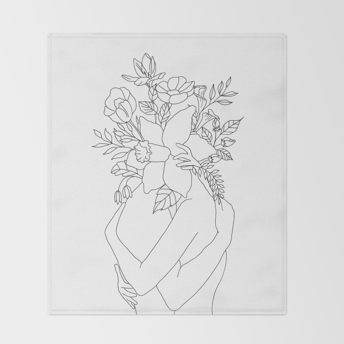 Blossom Hug Throw Blanket