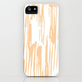 Modern Coral Stripes IV iPhone Case
