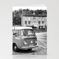 1975 Stationery Cards featuring 1975 VW Camper by BeCombi