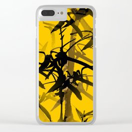 Bamboo Branches On A Yellow Background #decor #society6 #buyart #pivivikstrm Clear iPhone Case