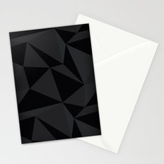 Triangular Black Stationery Cards
