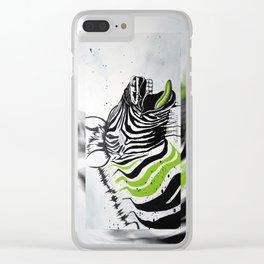 Zebra Streetstyle Clear iPhone Case