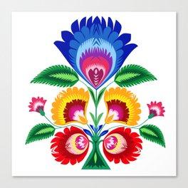 folk flower Canvas Print