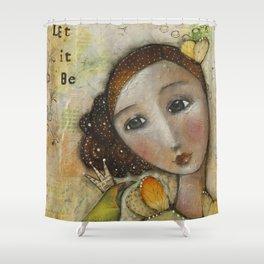 wisper words of wisdom girl Shower Curtain
