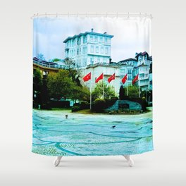 The entrance to the island. Shower Curtain