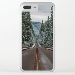 Winter Road Trip - Pacific Northwest Nature Photography Clear iPhone Case
