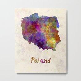 Poland in watercolor Metal Print