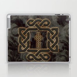 Decorative celtic knot, vintage design Laptop & iPad Skin