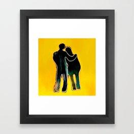 Lovers. Framed Art Print