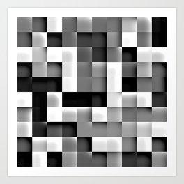Black and White Tiles Art Print