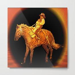 Horse Rodeo Metal Print