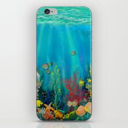 Undersea Art With Coral iPhone Skin