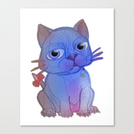 My Purple Vanda Cat Pet Canvas Print
