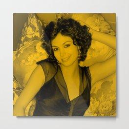 Morena Baccarin - Smily Pose Metal Print