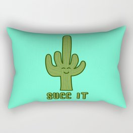 Succ It - Cute But Rude Cactus Rectangular Pillow