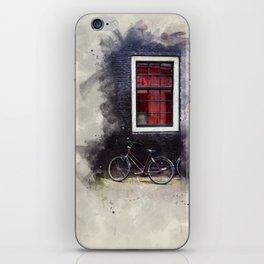Bike on an Amsterdam street iPhone Skin