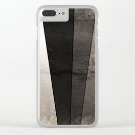 Grey Textured rays Clear iPhone Case