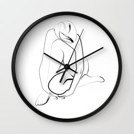 Girl Sketch Art Wall Clock