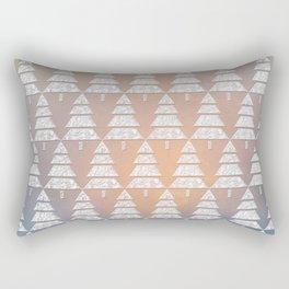 Geometric Christmas Trees 6 Rectangular Pillow