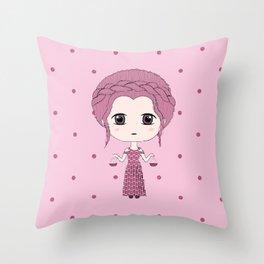Libra Girl Throw Pillow