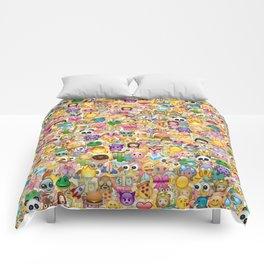 Emoticon pattern Comforters