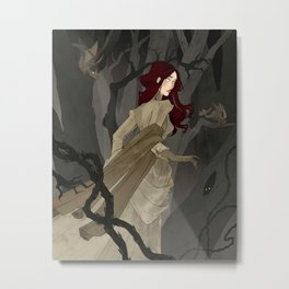 The Black Wood Metal Print
