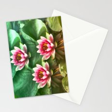 Waterlilies delicate Stationery Cards
