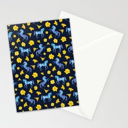Precious blue horses Stationery Cards