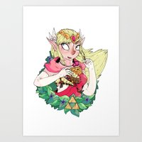 legend of zelda Art Prints featuring ZELDA by aadizooke