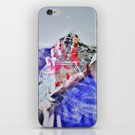 Cold Red Feathers by GEN Z iPhone Skin