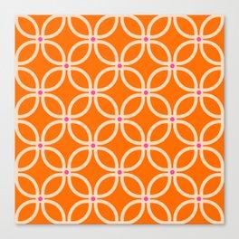 Trellis Orange Canvas Print