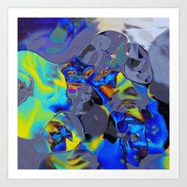 Oil Glitch Art Print