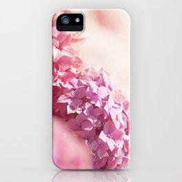 Dreamy pink hydrangea - Flower - Floral iPhone Case