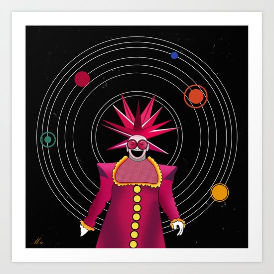 space vector Art Print