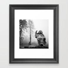 Morning Buddha Framed Art Print