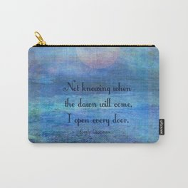 Emily Dickinson hope quote Carry-All Pouch