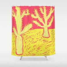 Yellow Cacti Shower Curtain