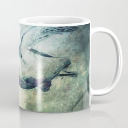 Flying Green Sea Turtle Coffee Mug