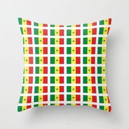 Flag of senegal – senegalais,senegalaise,senegalese,dakar,wolof. Throw Pillow