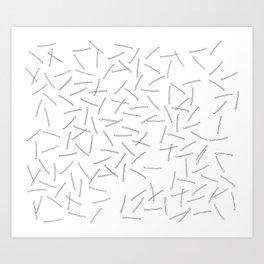 bobby pins Art Print