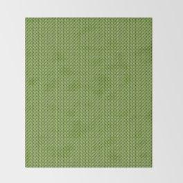 Knitted spring colors - Pantone Greenery Throw Blanket