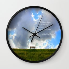 What light is to the eyes... Wall Clock