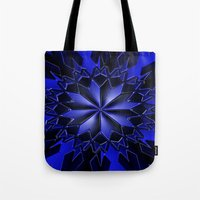 the shining Tote Bags featuring Shining... by Cherie DeBevoise