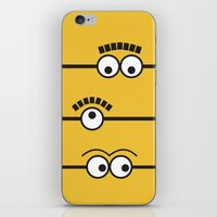 minions iPhone & iPod Skins featuring Minions by J Spiegel