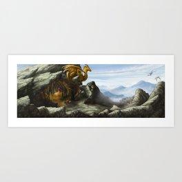 Golden Lookout Art Print