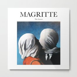 Magritte - The Lovers Metal Print