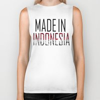 indonesia Biker Tanks featuring Made In Indonesia by VirgoSpice